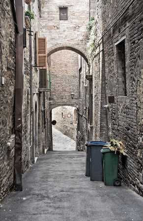 scraped: Alleyway. Perugia. Umbria.