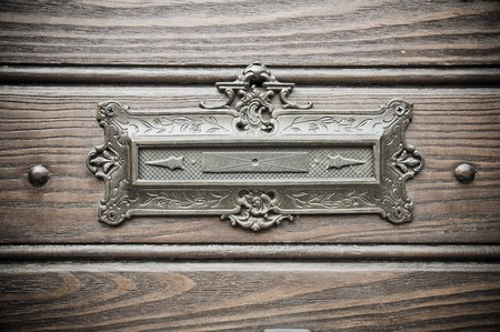 letterbox: Vintage letters slot. Stock Photo
