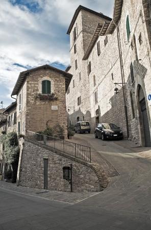 umbria: Alleyway. Assisi. Umbria.