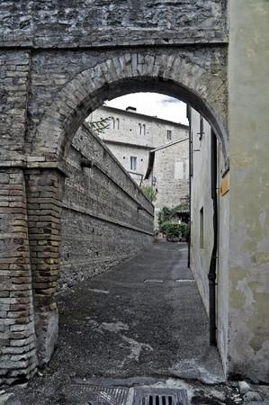 bevagna: Alleyway. Bevagna. Umbria.