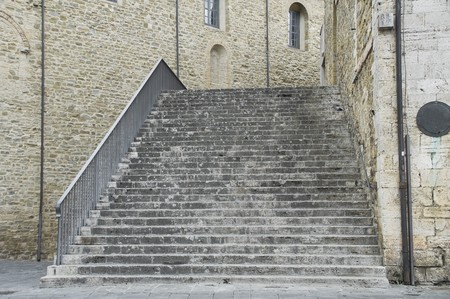 bevagna: Consuls Palace Staircase. Bevagna. Umbria.