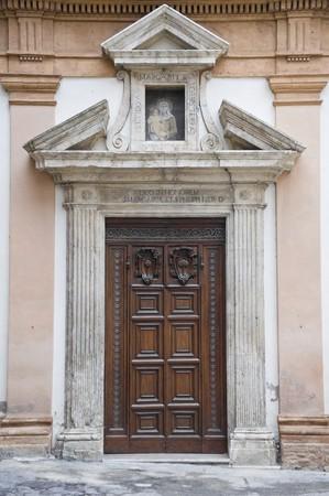 bevagna: St. Margherita Convent. Wooden Portal. Bevagna. Umbria.