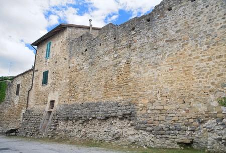 Ancient walls. Bevagna. Umbria. photo
