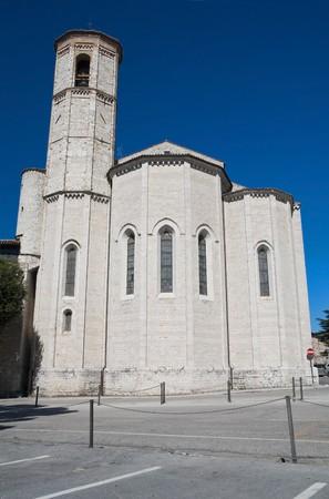 francesco: St. Francesco Church. Gubbio. Umbria. Stock Photo