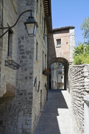 Alleyway. Gubbio. Umbria. photo