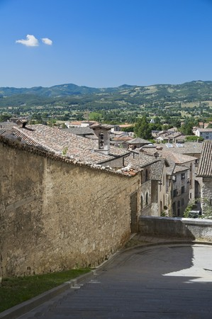 Panoramic view of Gubbio. Umbria. photo