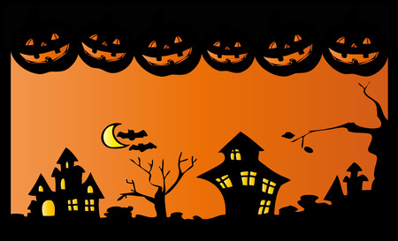 Halloween night. Vector