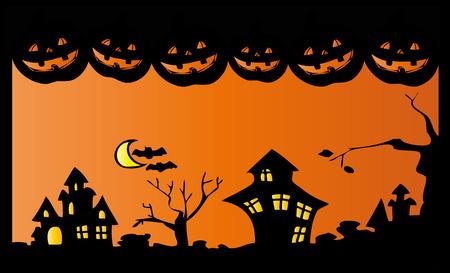 Halloween night. Vector