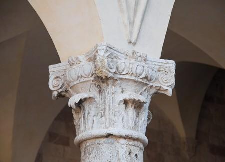 Close up of a corinthian capital. photo