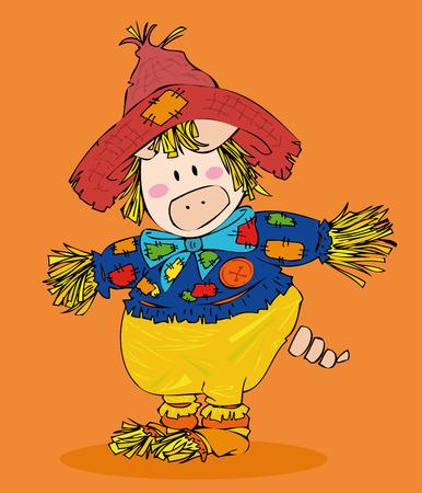Halloween Scarecrow. Vector