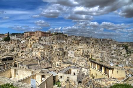 matera: Panoramic view of Matera. Basilicata.