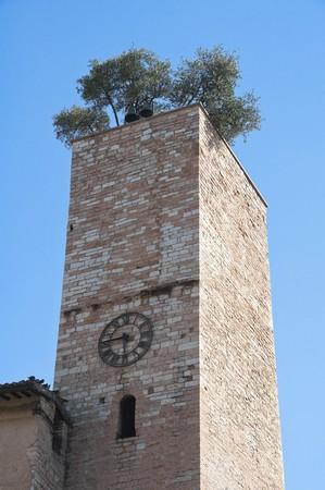 spello: Clocktower. Spello. Umbria. Stock Photo