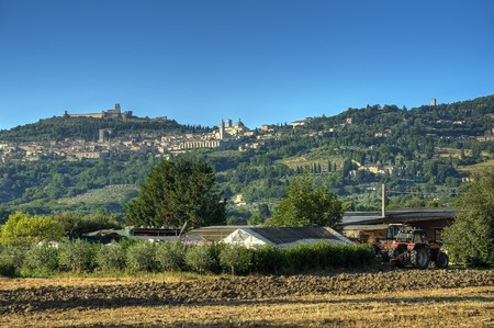 Panoramic view of Assisi. Umbria. photo