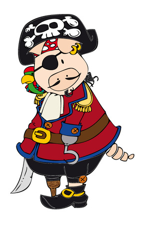 Pirate Pig. Vector