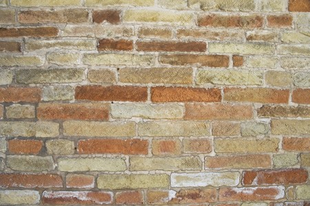 pitting: Brickwall background. Stock Photo