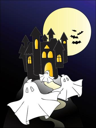 Haunted castle. Stock Vector - 7973687