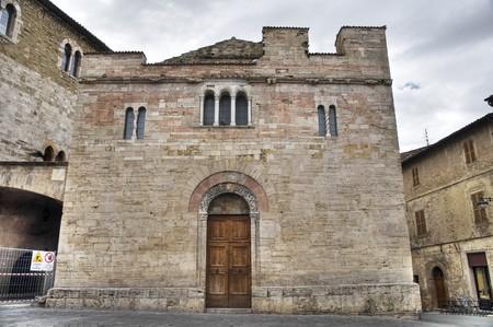 bevagna: St. Salvatore Church. Bevagna. Umbria. Stock Photo