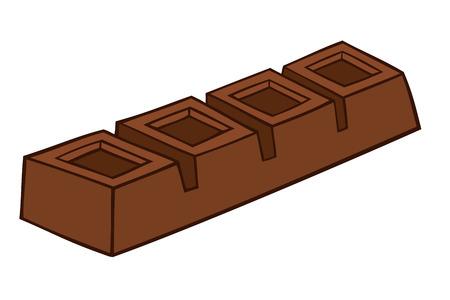 Barretta di cioccolato.  Vettoriali