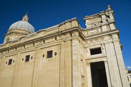 angeli: St. Maria degli Angeli Basilica. Assisi. Umbria. Stock Photo