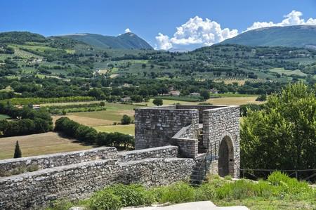 spello: Historic tower. Spello. Umbria.