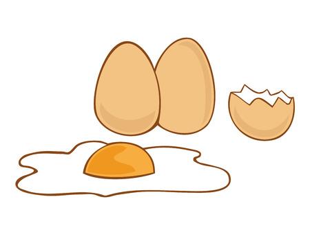uovo rotto: Uova. Vettoriali