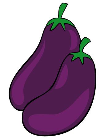 aubergine: Auberginen.