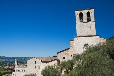 Panoramic view of Gubbio. Umbria. photo