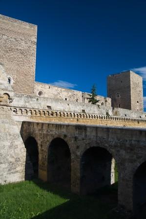 crenellated: Norman- Swabian Castle. Bari. Apulia.