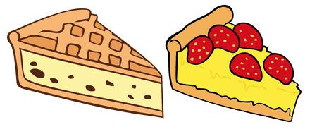 trozo de pastel: Tartas.