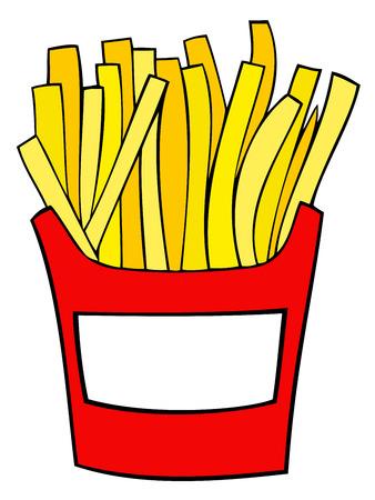 papas fritas: Patatas fritas.