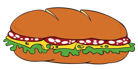 salame: Sandwich. Ilustra��o