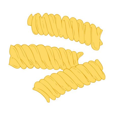 italian pasta: Fusilli.  Vectores