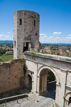 umbria: Towers of Properzio. Spello. Umbria.