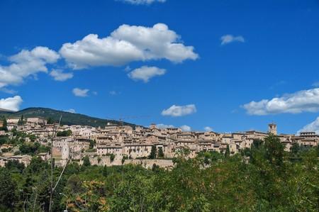 Panoramic view of Spello. Umbria.
