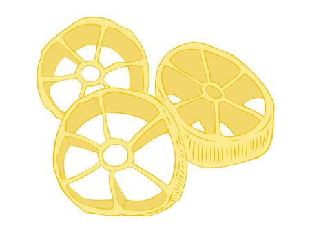 Rotelle pasta. Vector