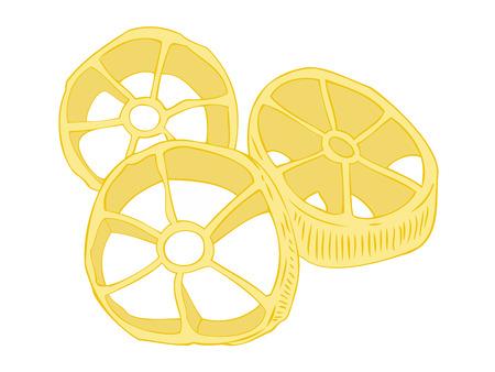 macaroni: Rotelle pasta.
