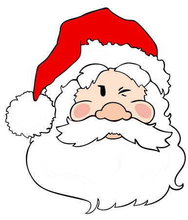 Santa Claus winking. Stock Vector - 8259528
