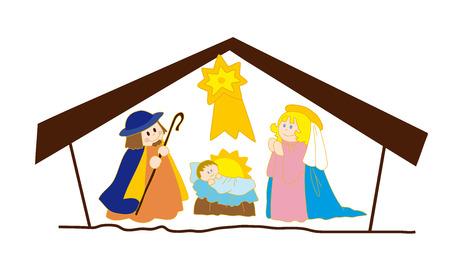 Christs nativity. Vector