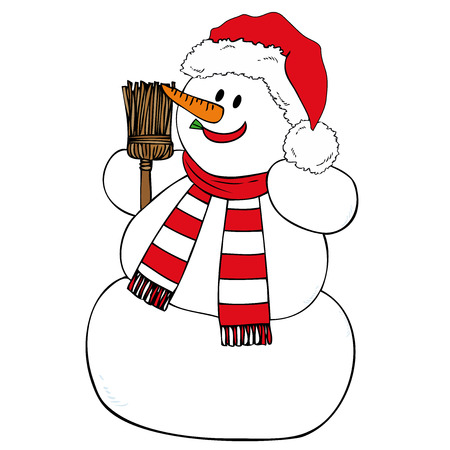 Smiling Snowman. Vector