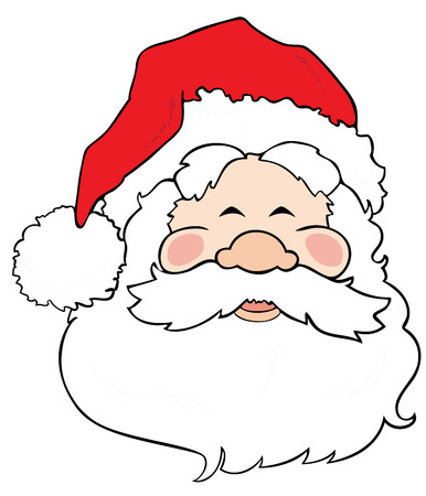 Santa Claus smiling. Stock Vector - 8259591