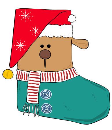 sinterklaas: Christmas stocking. Illustration