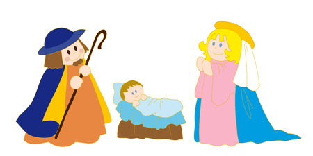 Christs nativity. Vector
