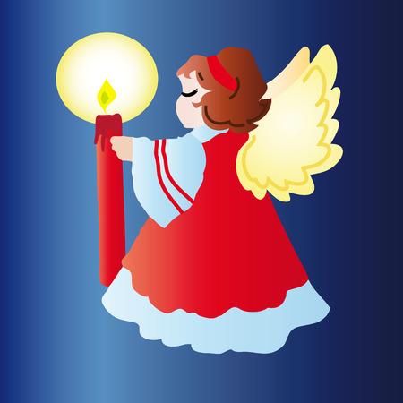 Christmas angel. Vector