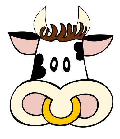 bellow: Dairy cow face.