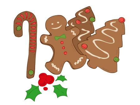 Christmas cookies. Vector