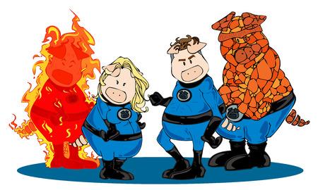 Superhero team. Stock Vector - 8457335