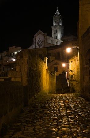 matera: Matera by night. Basilicata.