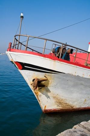 prow: Prow of fishing trawler.