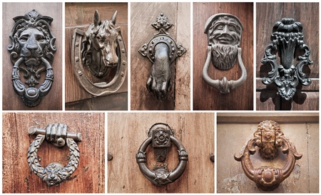 knocker: Doorknocker Collage.