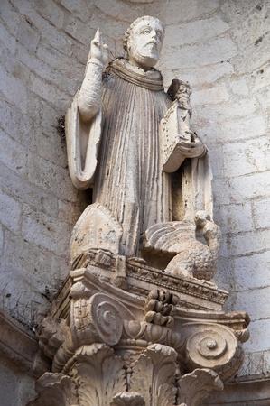 conversano: St. Benedetto Statue. Conversano. Apulia.